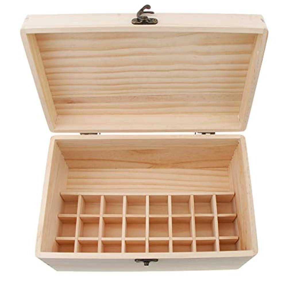 タック衝突リンケージdailymall エッセンシャルオイル 収納ボックス 木製 24グリッド ガラスボトル 香水収納 保存 可動仕切り板
