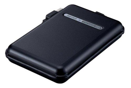 BUFFALO TurboUSB/耐衝撃/巻きピタケーブル収納 USB2.0用 ポータブルHDD 160GB ブラック HD-PF160U2-BK