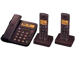 シャープ デジタルコードレス電話機 子機2台付き 1.9GHz DECT準拠方式 ブラウン系 JD-G55CW-T