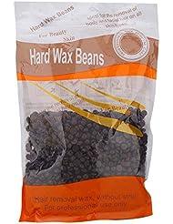 ハードワックスビーンズ脱毛ペーパーフリーソリッドワックスビーンズ痛みのない優しい脱毛用アームボディビキニ肌の美しさ300グラム(チョコレート)