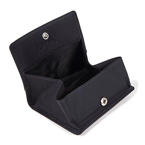 小銭入れ 本革 メンズ 薄型 カード入れ 紳士 財布 使いやすい カードが入る 通勤のお友に便利 (ダークネイビー)
