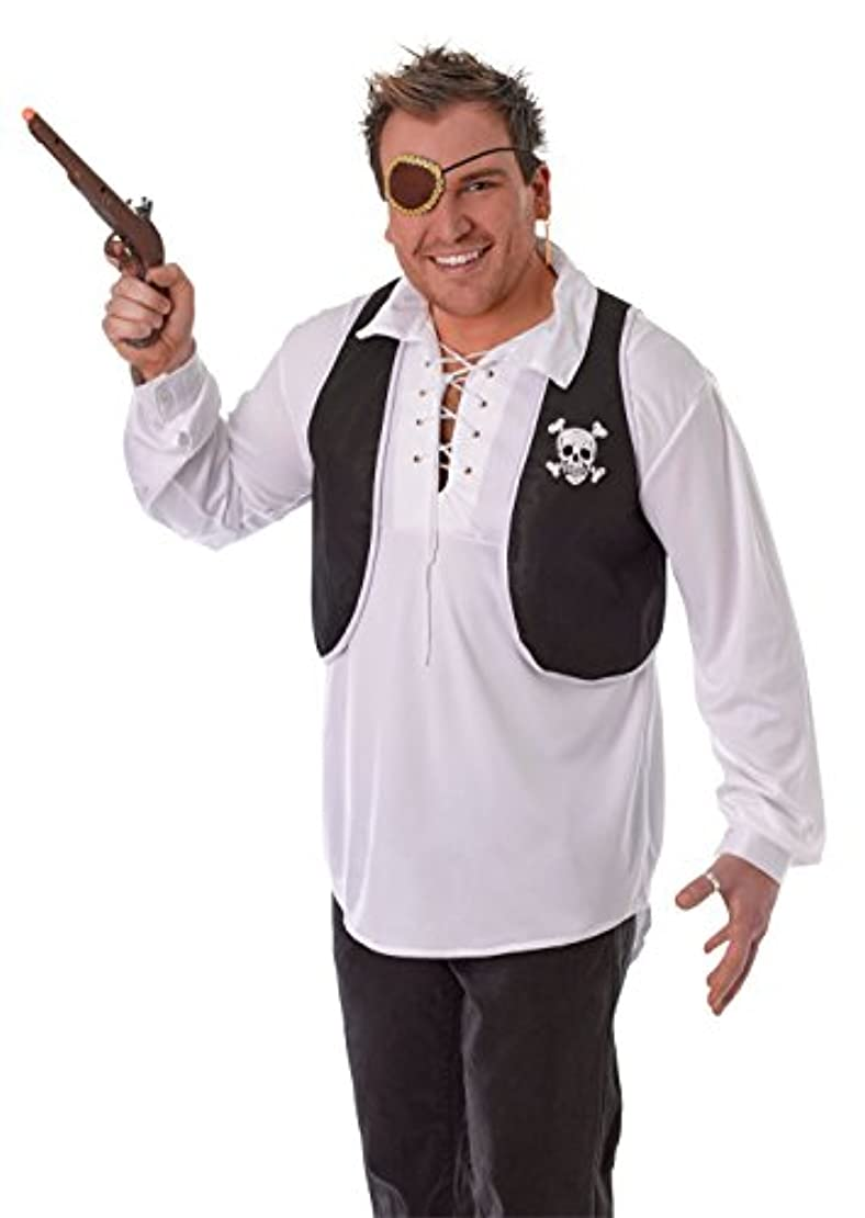 インシュレータアレンジ吐き出すBristol Novelty Black/White Pirate Waistcoat. Adult Costume Accessories - Men's - One Size