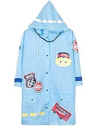 レインコート 子供用 雨具 軽量 男の子 女の子 小学生 通学用 リュック対応 収納ポーチ付き