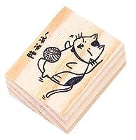 クリエイティブスタンプセット 木製ゴム印セット 執筆のためのスタンプ(2 PCS) #40