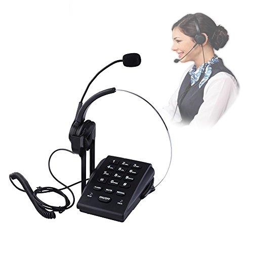 [해외]VINSOO 소규모 사무실이나 홈 기반 에이전트에 최적의 노이즈 캔슬~ Pc 녹음 기능을 갖춘 콜센터의 다이얼 패드 모노 코드 헤드셋 전화/VINSOO Noise cancellation optimum for small office or home based agent~ call center dial pad with Pc rec...