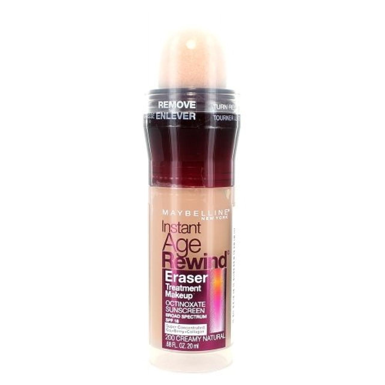 バナー意図的酸(3 Pack) MAYBELLINE Instant Age Rewind Eraser Treatment Makeup Creamy Natural (並行輸入品)