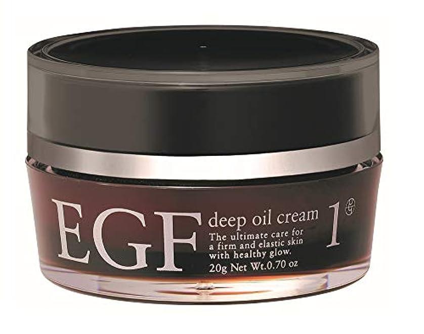 現金来て好奇心【EGFクリーム】EGF ディープオイルクリーム 20g