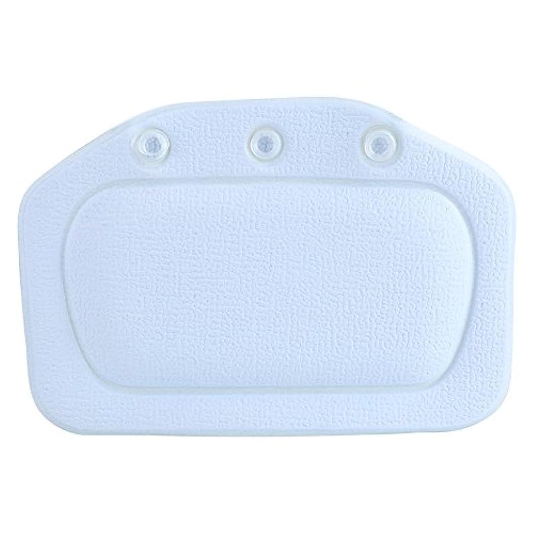 手料理をする取り除くスパバスピロー、ソフトフォームパッド付き人間工学に基づいたバスタブクッションピロー浴槽ヘッドレストヘッドネックバッククッションピロー(青)
