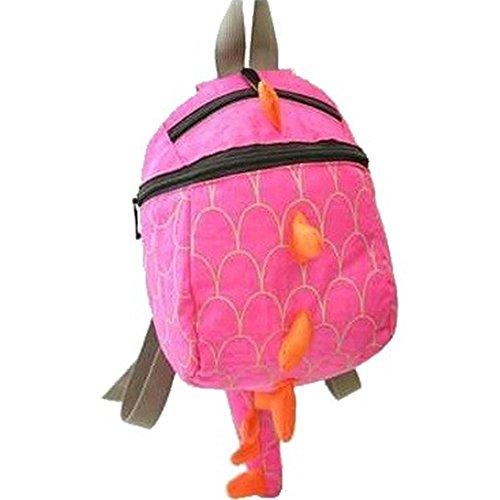 子供 キッズ リュック 恐竜 トゲトゲ シッポ デイパック ナップザック (ピンク)