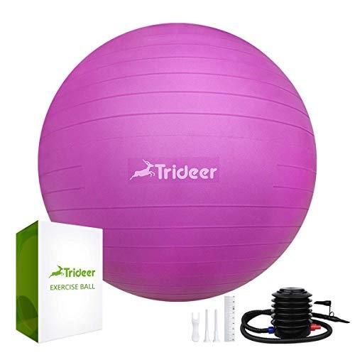 Trideer バランスボール45/55/65/75cm(11色) 厚い ヨガボール ピラティスボール 耐荷重500KG アンチバー...