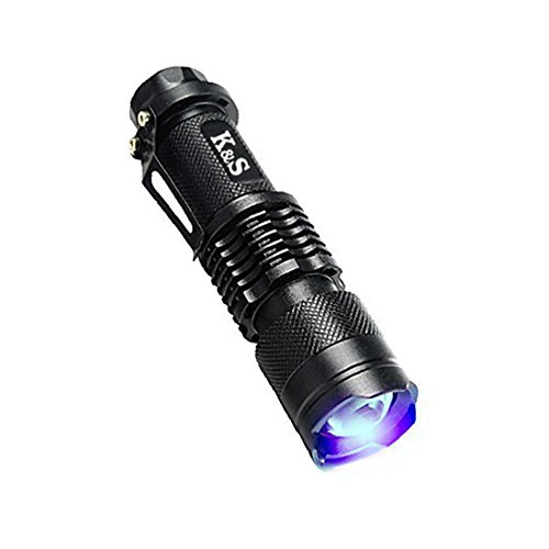 K&S JP LED懐中電灯 紫外線ライト LEDライト U...