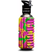 (0.75 Litre, Green/Pink/Orange/Yellow/Camouflage) - MOBOT Grace Reusable Stainless Steel Foam Roller Water Bottle