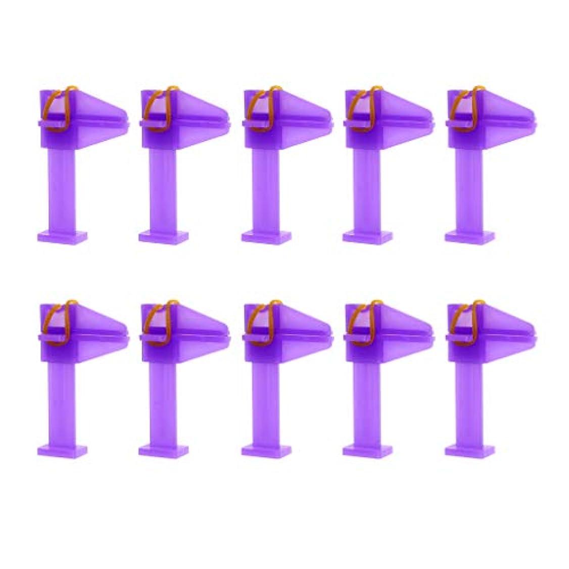 突然生じるふざけた10ピース/個ネイルアートポリッシュUVジェルクリップネイルシェイプCカーブアクリルまたはジェルツール - 紫