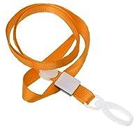 CKB Ltd 20個パックオレンジPro Lanyardsネックストラップwith Swivelプラスチッククリップfor an IDカードホルダー