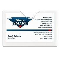 StoreSMART–ビジネスカード封筒–アーカイブポリエチレンプラスチック–100枚パック–Open Long Side–kg3X 2l-100