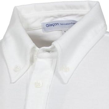 Glacon 3/4 Sleeve Buttondown Polo Shirt: White