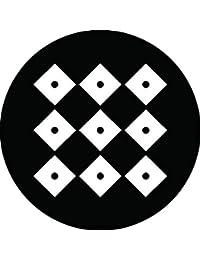 家紋シール 九つ目結紋 布タイプ 直径40mm 6枚セット NS4-0967