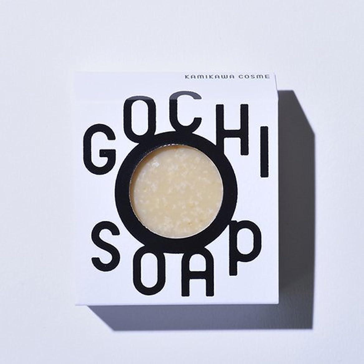 の頭の上ロマンスコンピューターを使用するGOCHI SOAP ゴチソープ ふじくらますも果樹園のりんごソープ