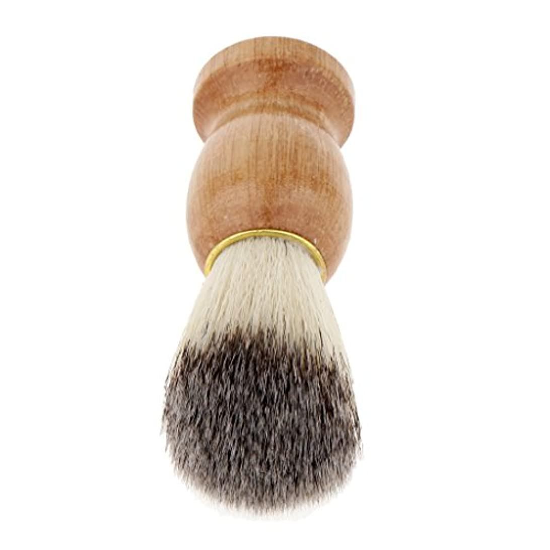 幹苦行目の前のHomyl シェービングブラシ ひげ剃りブラシ 木製ハンドル メンズ プレゼント 快適