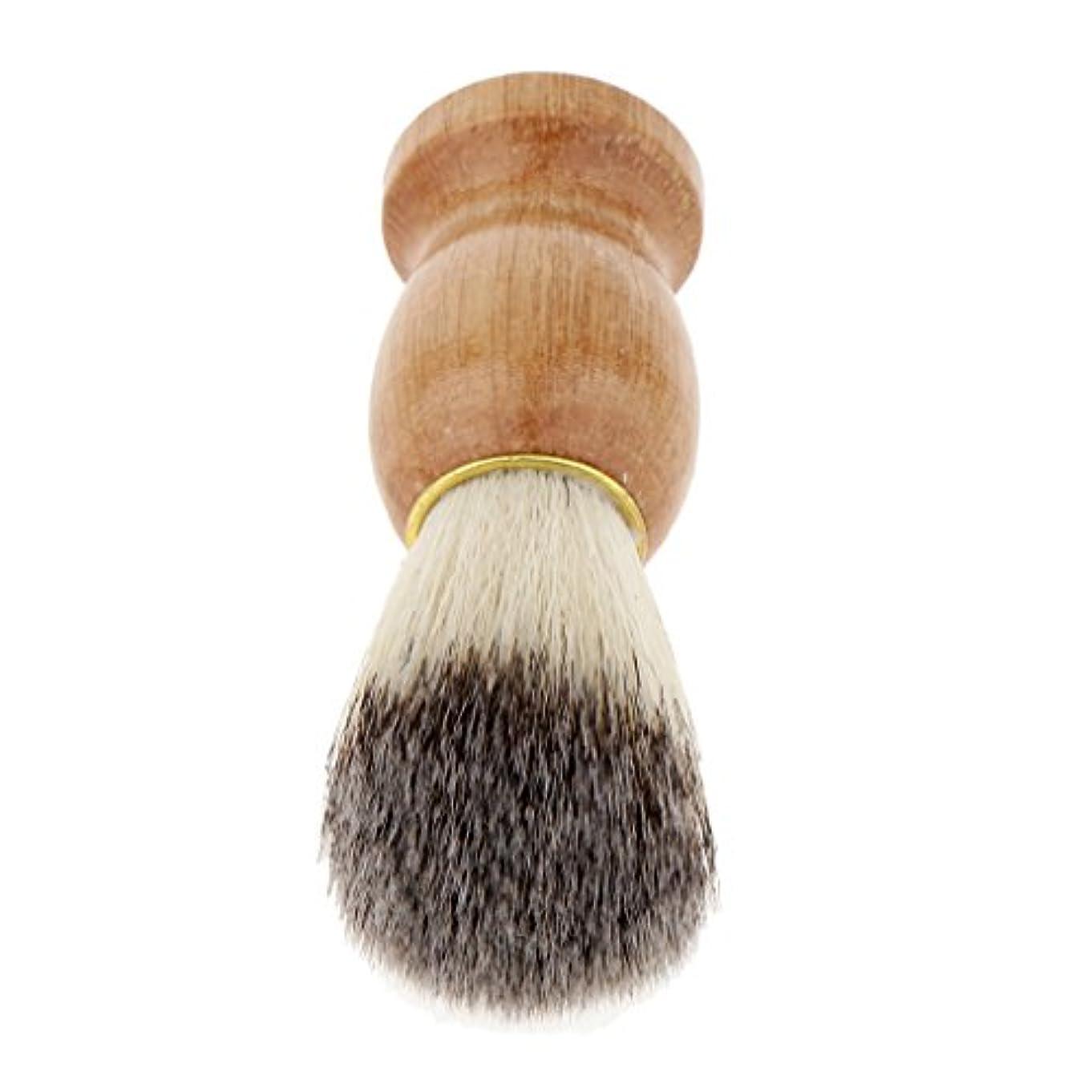 しつけかどうかデジタルHomyl シェービングブラシ ひげ剃りブラシ 木製ハンドル メンズ プレゼント 快適
