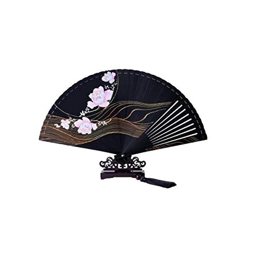 間違い半径補正KATH ファン、中国風の手のファン、扇子、黒の扇子