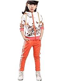50db107c34d05 ジョイフルマート)Joyful Mart ジャージ キッズ ジュニア 用 スポーツ ウエア 長袖 上下 セット 女の子