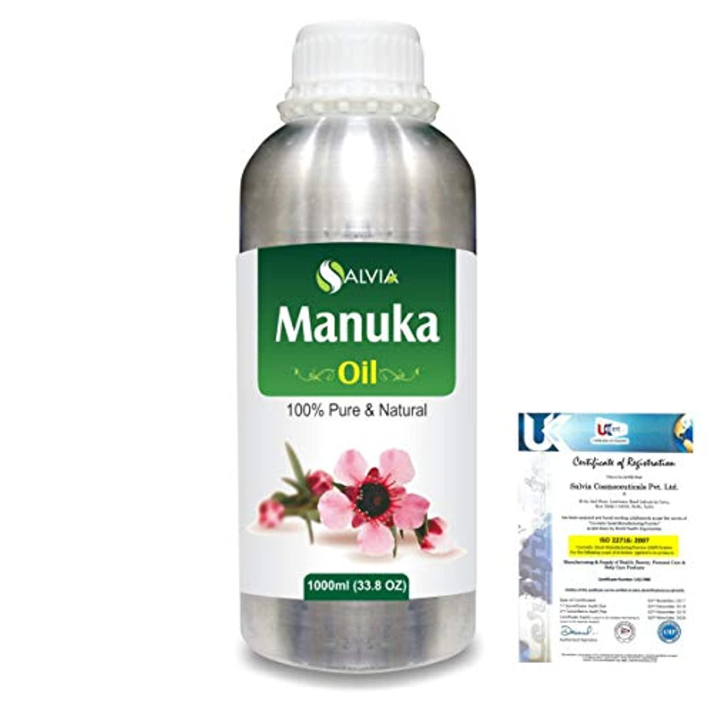 揺れる抑止するハードManuka (Leptospermum scoparium) 100% Natural Pure Essential Oil 1000ml/33.8fl.oz.