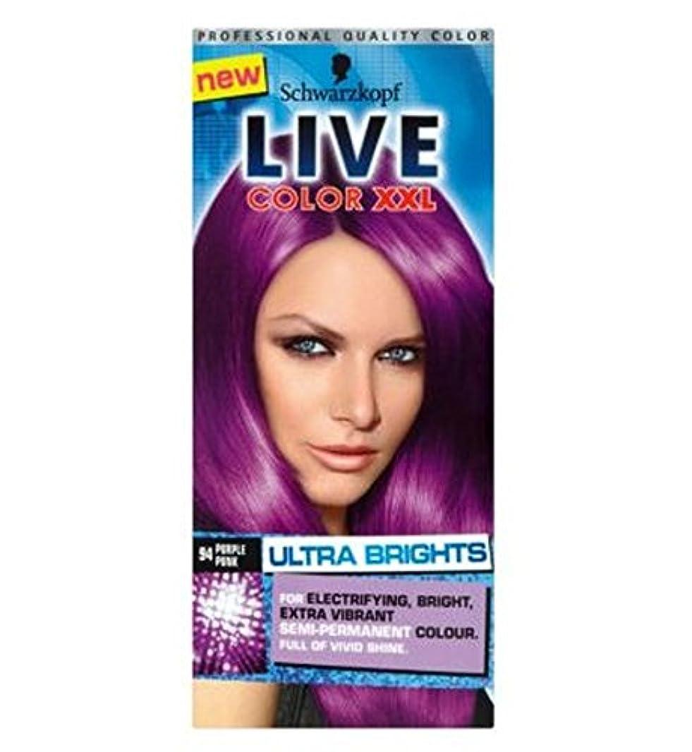 標高エジプト人適性Schwarzkopf LIVE Color XXL Ultra Brights 94 Purple Punk Semi-Permanent Purple Hair Dye - シュワルツコフライブカラーXxl超輝94紫...