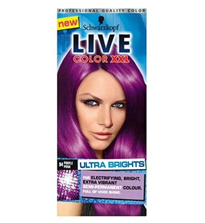 Schwarzkopf LIVE Color XXL Ultra Brights 94 Purple Punk Semi-Permanent Purple Hair Dye - シュワルツコフライブカラーXxl超輝94紫...