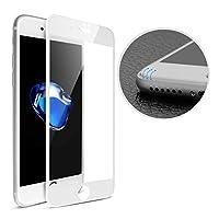 iPhone7 用 フィルム 4D 全面 ガラスフィルム Arbalest FullGlass iphone7/8 用 液晶保護フィルム 極薄 強化ガラス 指紋防止 飛散防止 気泡防止 硬度9H 高感度タッチ 高透過率 ラウンドエッジ加工 iPhone8 対応 (白)