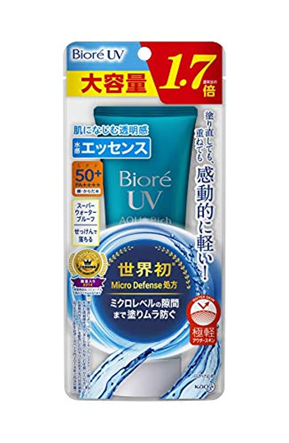 かすれたアラートでる【大容量】 ビオレUV アクアリッチ ウォータリエッセンス 85g (通常品の1.7倍) 日焼け止め SPF50+/PA++++