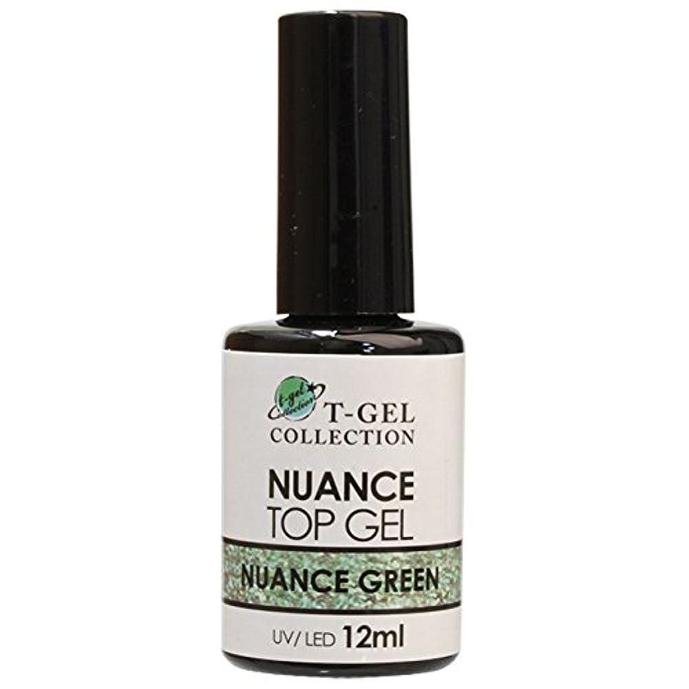 平らな合体窒息させるT-GEL COLLECTION ティージェル ニュアンストップジェル(ノンワイプ) ニュアンスグリーン