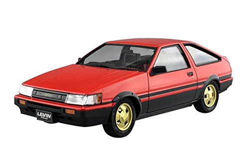 Qingdao cultural materials 1 / 24-prepaintmodelseries SP Toyota AE86 Levin 1984 red / black pre-painted plastic model