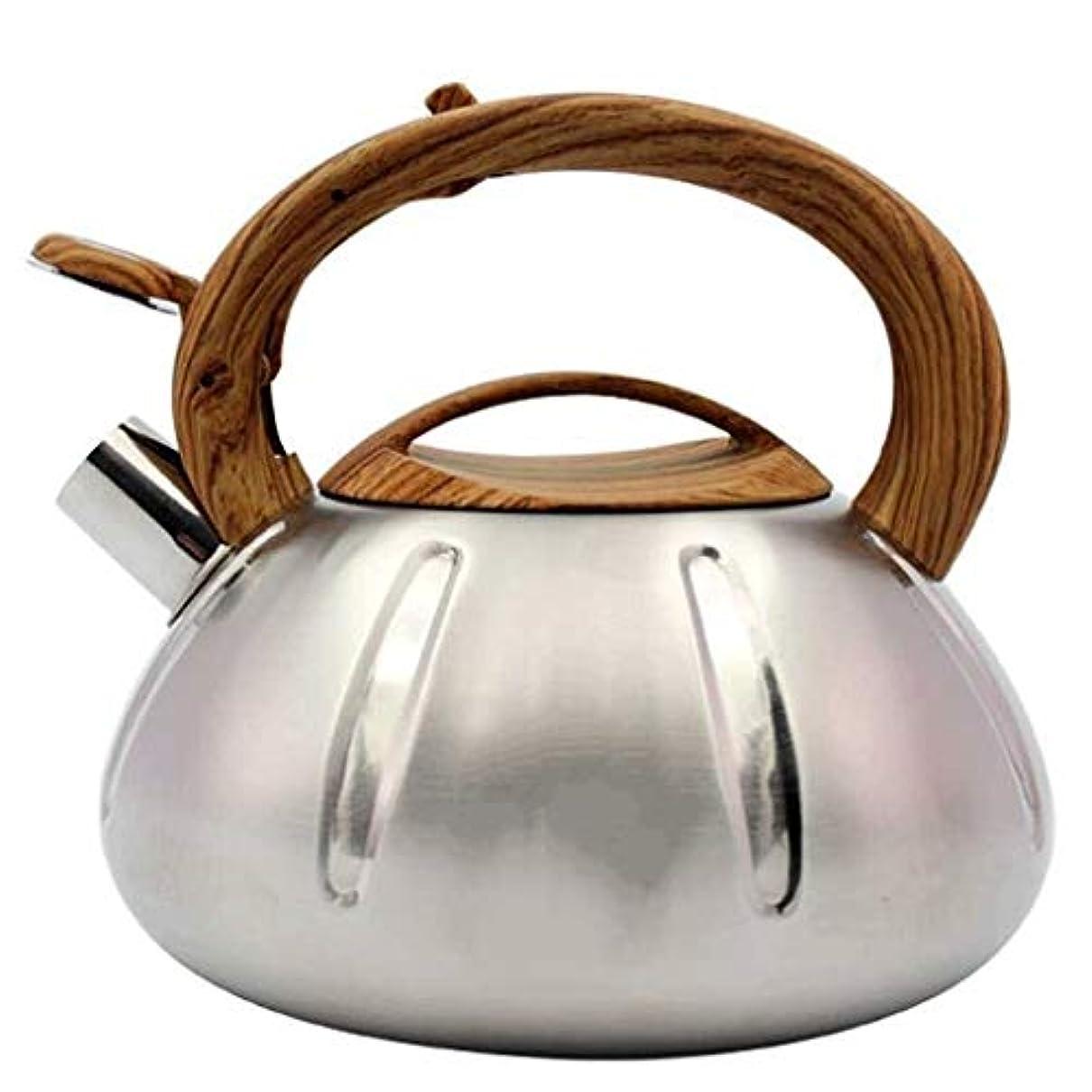 確認してください安全性クリークIRVING 最もよいティーケトルの口笛のステンレス鋼のストーブの上のティーポット3Lの茶やかんの鍋のコンロ