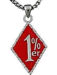 絶妙なレッド1 % 1 % er 316lステンレス鋼メンズペンダントネックレスチェーン
