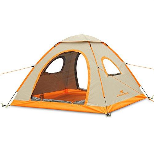 テント ポップアップテント 3-4人用 ワンタッチテント キャンプ サンシェード ビーチUVカット 防雨高耐水性 (Gold)