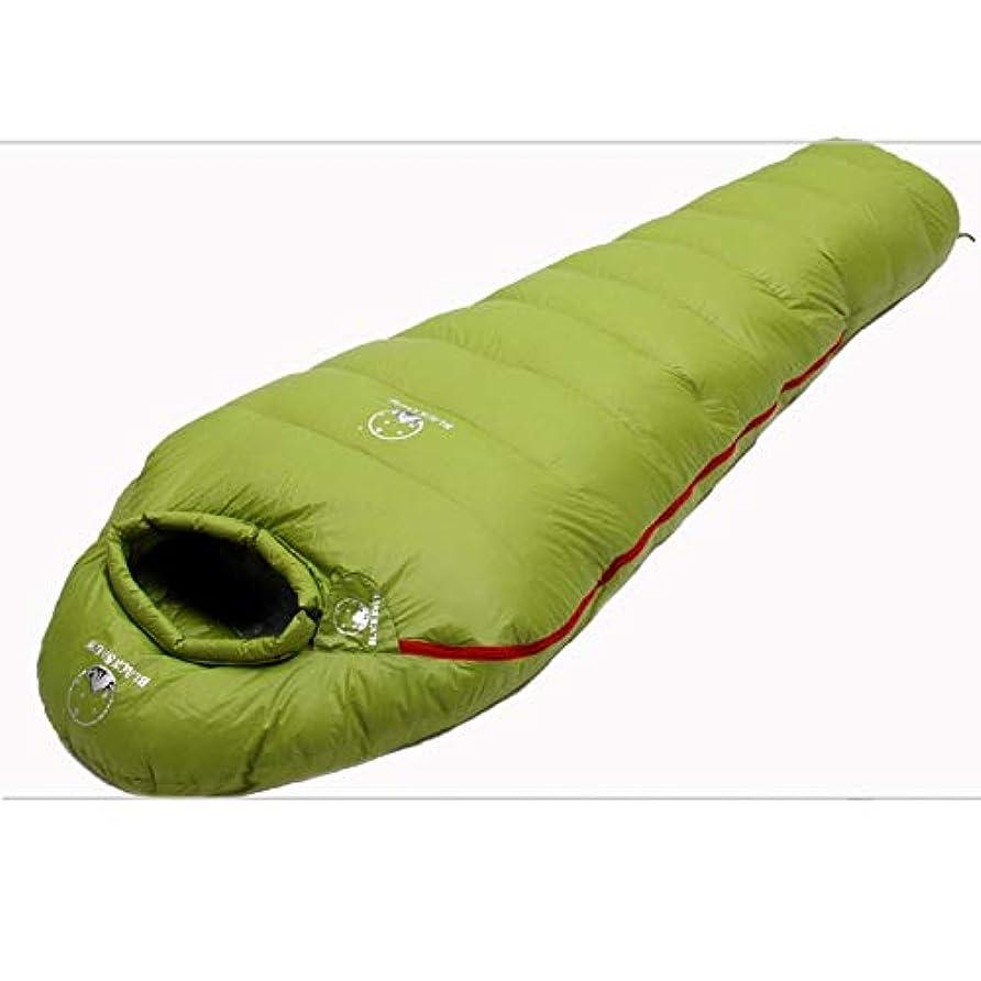 ペット緑スペースYLIAN 寝袋 旅行、バックパッキング、屋外のために大人寒冷防水暖かいキャンプバッグダウンスリーピングキルトのための軽量スリーピングバッグ (Color : Blue)