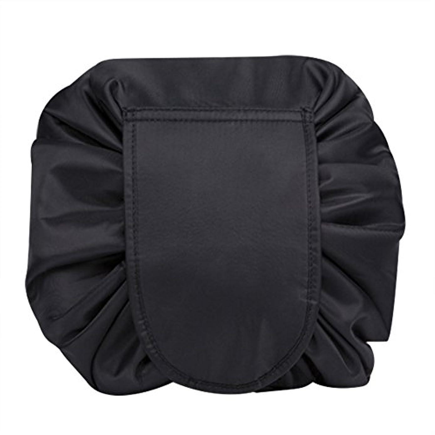 心理学苦情文句マジックポーチ 化粧バッグ 化粧ポーチ レイジー化粧バッグ トラベルバッグ メイクバッグ 容量大きい ブラック