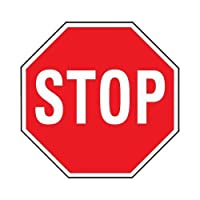 "hy-ko hw-3118"" x 18"" Aluminum Stop Sign"