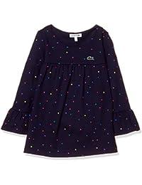 [ラコステ] TEE SHIRTS GIRLSマルチカラーポルカドットロングスリーブTシャツ