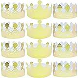 24個 ゴールド ホイルペーパー クラウン ゴールデン キング クラウン パーティー クラウン ハット キャップ 誕生日 お祝い ベビーシャワー 写真小道具