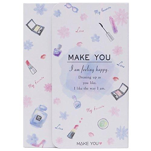 [해외]MAKE YOU 메모장 다이 커버 노트 | # 5 화이트 카미 오 재팬 패션 귀여운 굿즈 판매/MAKE YOU [Notepad] Memo with die cut cover | # 5 White Camio Japan fashionable cute goods mail order