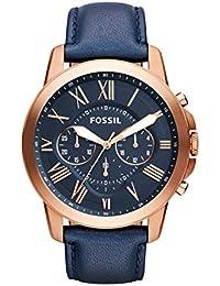 FOSSIL[フォッシル] GRANT グラントスポーツ レザー ネイビー アナログ クロノグラフ メンズ 腕時計 FS4835 [並行輸入品]