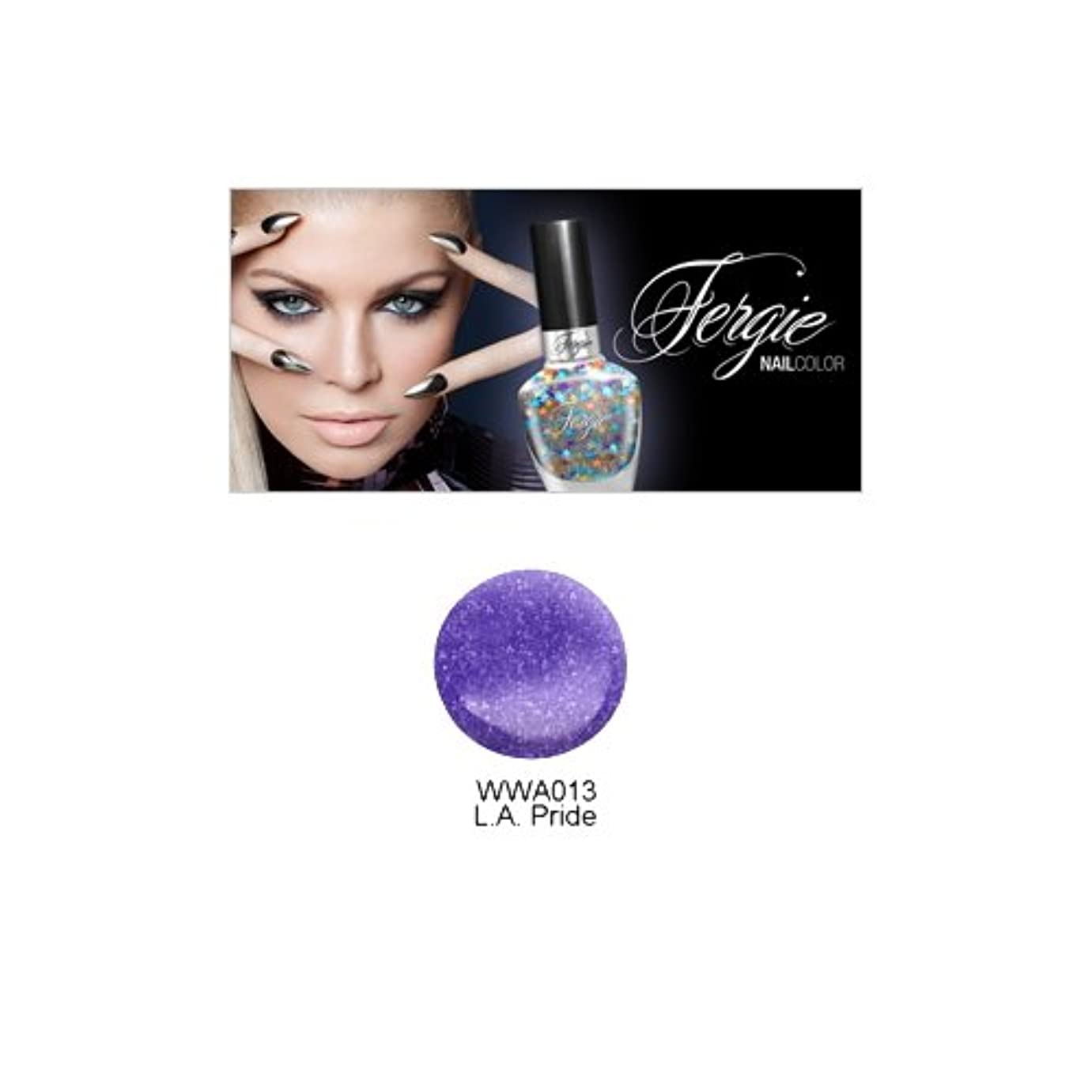 毒キャンベラ焼く(3 Pack) Wet N Wild FERGIE NAIL COLOR - L.A. Pride (DC) (並行輸入品)