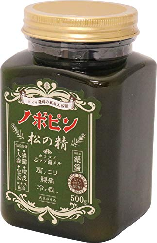 紀陽除虫菊 ドイツ発祥の薬用入浴剤 ノボピン 松の精 500g 保湿 (粉末タイプ/爽やかな森林の香り)