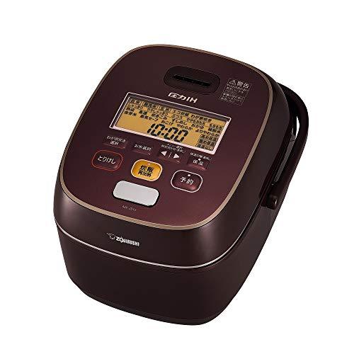象印 炊飯器 圧力IH式 鉄器コート豪熱羽釜 5.5合炊き ボルドー NW-JS10-VD