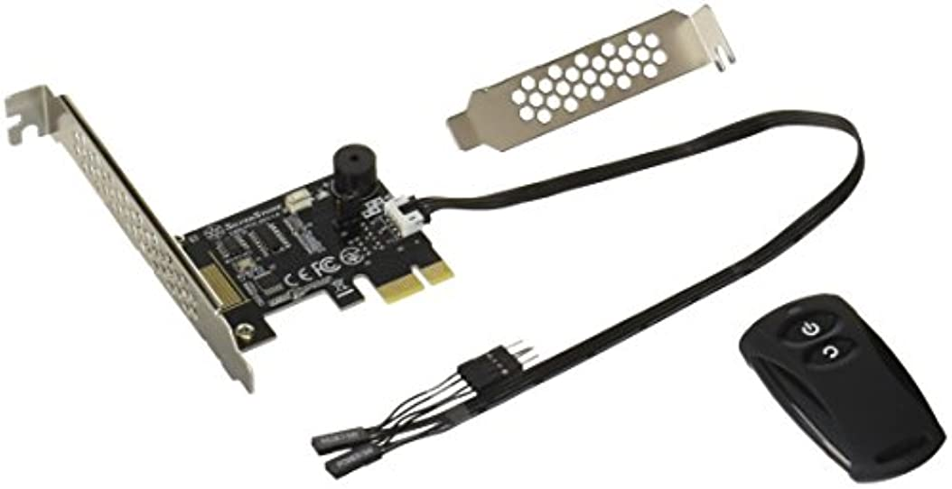 マイクロフォン年次家事SilverStone 2.4GHz ワイヤレス電源&リセットスイッチ リモコン