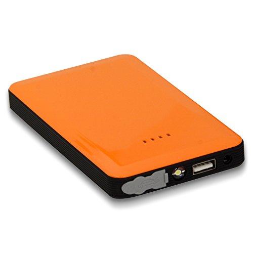 V12マルチチャージャー 世界最小ジャンプスターター モバイルバッテリー 全8色 (オレンジ)