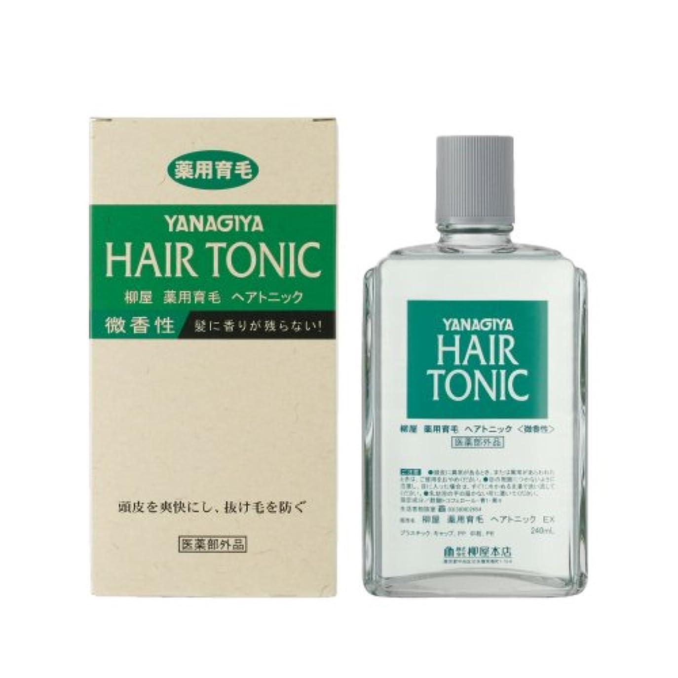 反応するエレクトロニック情報柳屋薬用育毛ヘアトニック微香性 240ml