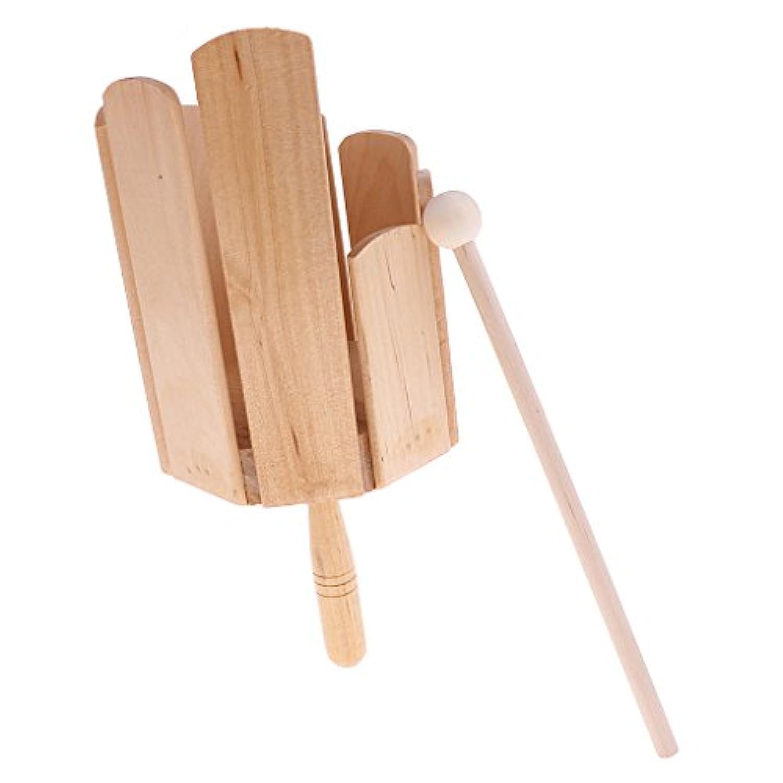 Homyl サウンドシェーク 揺れ 木製 パーカッション 子供 楽器おもちゃ